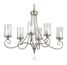 """View the Kichler 42862 Lara Single-Tier Oval Chandelier with 6 Lights - 72"""" Chain Included - 36 Inches Wide at LightingDirect.com."""