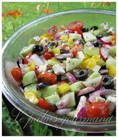 Le palais gourmand: Salade grecque