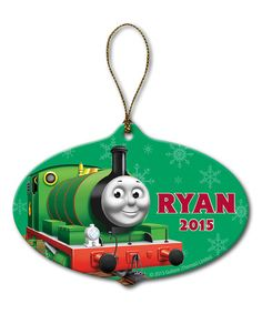Look what I found on #zulily! Thomas & Friends Percy Personalized Ornament #zulilyfinds