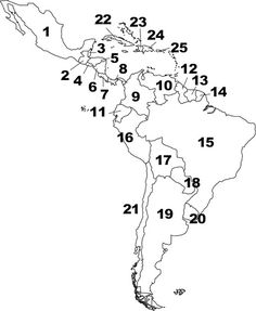 South America Map No Names.South America Map Lapbooks Pinterest Latin America Map