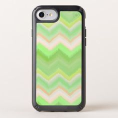 Fun Summer Orange Lime Green Ikat Zigzag Pattern Speck iPhone Case - pattern sample design template diy cyo customize