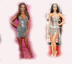 silver dress, Alessandra Ambrosio VS Katy Perry fashion diva who-wore-it-better celeb celebrity
