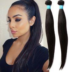 No Tangle Human Hair 10 -30  Stragith Peruvian Hair extensions Straight 50g/pc