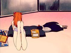 Discover & share this Anime GIF with everyone you know. GIPHY is how you search, share, discover, and create GIFs. Girls Anime, Manga Girl, Manga Anime, Anime Art, Neon Genesis Evangelion, Evangelion Shinji, Asuka Langley Soryu, Good Anime Series, Otaku