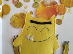 The Colour Monster ( 7 monsters set ) Puppet Edition Alphabet Letter Templates, Monster Co, Emotions Preschool, Funny Monsters, Little Monsters, Stories For Kids, Emotional Intelligence, Teaching English, Social Skills