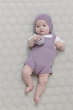 1507: Design 1 Romper og kyse #strikk #knit #bomull #cotton
