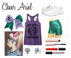Cheer Ariel by caidrae05 on Polyvore featuring polyvore fashion style NIKE Disney Too Faced Cosmetics Christian Dior clothing