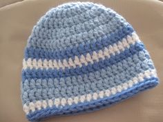 Crochet boy hat for my baby boy...  withlovemarcia.blogspot.com Con cariño, Marcia