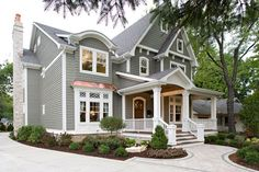 Exterior 01 - another view of house by JB Architecture, made by Siena Custom Builders, Naperville IL