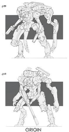 ArtStation - Line work_Mech03, Ray Jin