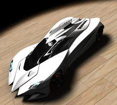 Lamborghini Ferruccio Concept 3D renderings by Mark Hostler