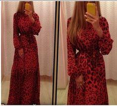 Ucuz  Doğrudan Çin Kaynaklarında Satın Alın:  2015 yeni kadın seksi kırmızı şifon leopar akşam parti elbise siyah zemin uzunluğu o- Boyun bandgae elbise uzun elbise ücretsiz nakliye        &n