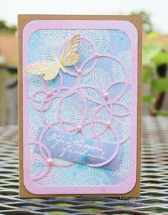 Dreamy card featuring ColorBox Embossing Powder, ColorBox Spritzer, and ColorBox Premium Sprays. | by Tami Sanders for Clearsnap Blog