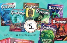 #goosebumps #kidsbooks down to $5 each @bigwaustralia #halfprice #onsale 10-16/3/16 #mar16 #readingisfun #readinglist #storybooks #bigw