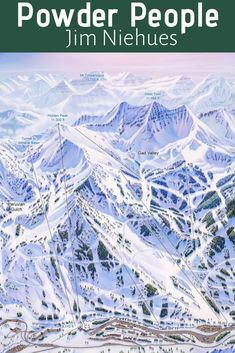 Meet Jim Niehues, the man behind your trail map. Jim has spent the last 30 years painstakingly crafting ski area trail maps with watercolors for nearly 200 resorts across 5 continents. Alta Ski, Cottonwood Canyon, Watercolor Map, Trail Maps, Cartography, Park City, 30 Years, Continents, Wyoming