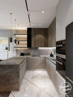 Modern Kitchen Interiors, Luxury Kitchen Design, Kitchen Room Design, Home Decor Kitchen, Interior Design Kitchen, Kitchen Ideas, Latest Kitchen Designs, Fancy Kitchens, Luxury Kitchens
