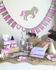 Pferdegeburtstag Geburtstagstisch