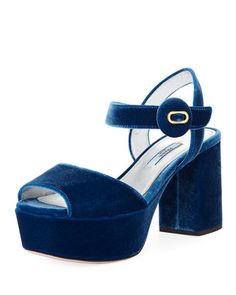 Quarter-Strap+Velvet+Platform+Sandal+by+Prada+at+Bergdorf+Goodman.
