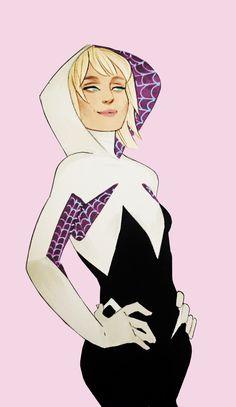 kevin wada illustration: jasontoddo:   Spider Gwen and Spider Woman by...