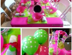 Preppy Pink and Green Birthday Party
