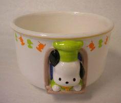 Vintage Sanrio Pochacco Chef Dog Noodle Soup Rice Bowl | eBay