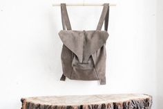 Leather backpack // gray backpack / unisex / by circumambulation, $285.00
