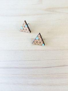 Hand Painted Laser Cut Wood Geometric Triangle door CirkusCharm