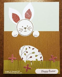 """Easter card made with Stampin'UP!'s """"Friends and Flowers"""" stamp set, in the Occasions 2016 Catalog"""