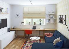 Дизайн однокомнатной квартиры в скандинавском стиле. Гостиная