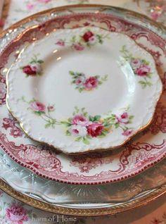 so pretty, vintage plates