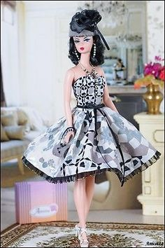 Anicetta OOAK fashion for Silkstone Barbie, Fashion Royalty,