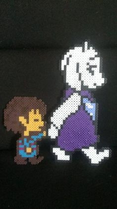 Undertale Toriel and Frisk Pixel Art Bead Sprite by MelParadise