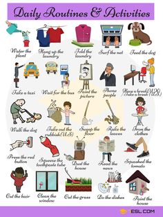 Useful Expressions to Describe your Daily Routines in English | 7 E S L