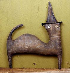 Primitive Halloween Cat Doll