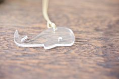 Clear Whale Necklace by truche on Etsy, $26.00
