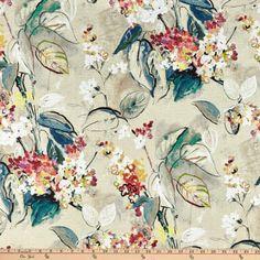 Swavelle Sisley Garden Barkcloth Teaberry - Discount Designer Fabric - Fabric.com