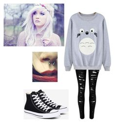 """Untitled #255"" by akwardpotato on Polyvore featuring Converse"