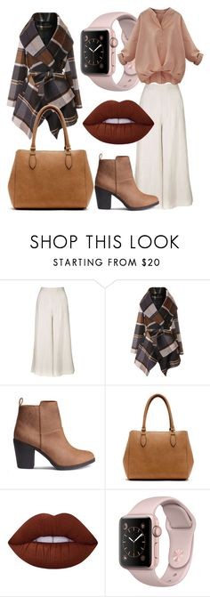 """""""Casual fall #3"""" by sabiheja on Polyvore featuring Topshop, Chicwish, New Directions and Lime Crime"""