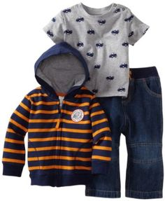 Little Me Baby-Boys Infant Jeep 3 Piece Jacket Set, Blue, 12 Months Little Me. $34.95