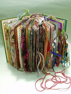 beautiful altered book - wowowow - follow link to see the whole thing