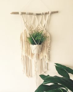 Macrame Plant Hanger, Macrame, Plant Hanger, Modern Macrame, Weaving, Indoor Planter, Wall Hanging by MacrameAdventure on Etsy https://www.etsy.com/listing/269949036/macrame-plant-hanger-macrame-plant