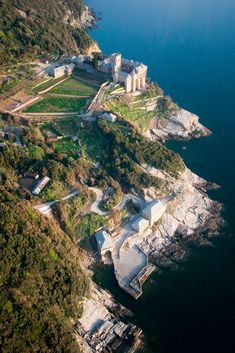 Aerial view of Stavronikita Monastery, Mount Athos, Greece Beautiful Places To Visit, Cool Places To Visit, Great Places, Amazing Places, The Holy Mountain, Places In Greece, Christian World, Revival Architecture, Greece Travel