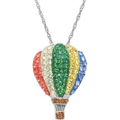 c2f23a4c1560 Luminesse Swarovski Element Sterling Silver Balloon Pendant