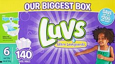 Luvs Ultra Leakguards Diapers, One Month Supply, Size 6, 140 Count  //Price: $ & FREE Shipping //     #Bathroom