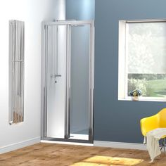 760mm Bi-Fold Glass Shower Enclosure Cubicle Doors Set - //showerdoorspares & 2.99 screwfix | extension | Pinterest | Ps and Polished nickel