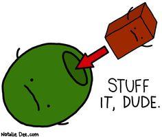 Comic by Natalie Dee: stuff on