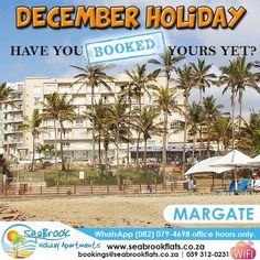 After our national lockdown, we think you owe it to yourself to book your dream December holiday!  STOP what you are doing and book TODAY! View our self catering accommodation units on our website. Link in bio.  bookings@seabrookflats.co.za | 039 312-0231 | we are also available on WhatsApp (082) 079-4698 valid during office hours only | Book Online on our website. Link in bio  #dontcancelpostpone #21dayslockdown #WhereToStay #holiday #travel #vacation #love #instagood #trip #travelgram… Holiday Apartments, Cool Apartments, December Holidays, Website Link, In The Heart, Dreaming Of You, Big Group, The Unit, Vacation