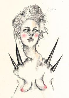 suggar drawing fashion art illustration spikes punk