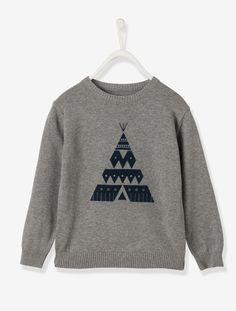 Camisola em jersey, para menino