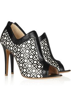 Nicholas Kirkwood Geometric-patterned leather pumps